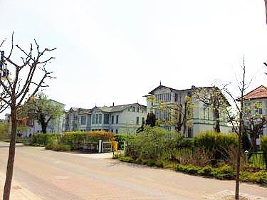 Promenade mit Hotels in Ahlbeck